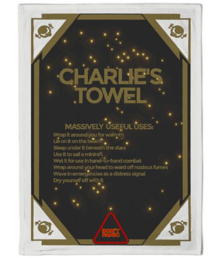 Hitchhikers Guide To The Galaxy Personalised Tea Towel